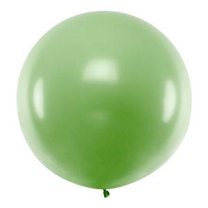 PartyDeco Kulatý latexový Jumbo balón 1 m - zelený
