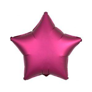 Amscan Fóliový balón Hvězda - růžová 43 cm