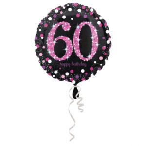 Amscan Fóliový balónek 60 třpytivá růžová