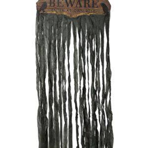Guirca Černý závěs se světlem