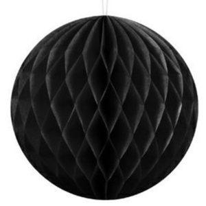 KOULE papírová dekorační černá 40cm