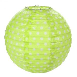 LAMPION dekorační zelený 20cm 2ks