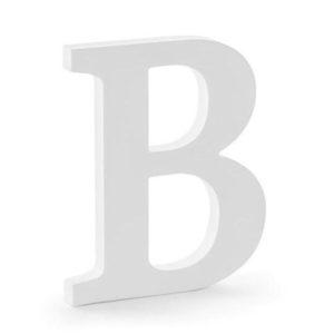 PÍSMENO dřevěné B bílé