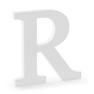 PÍSMENO dřevěné R bílé