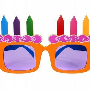 PartyDeco Brýle - narozeninové dorty