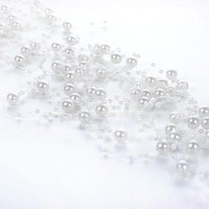 Perličky na vlasci bílé 5ks