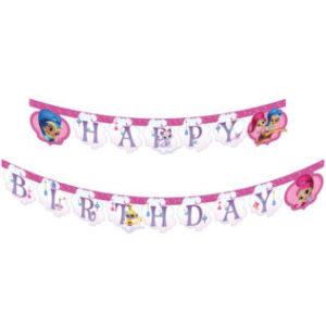 Procos Banner Happy Birthday - Shimmer and Shine