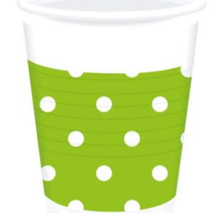 Procos Kelímky s Puntíky – zelené 10ks