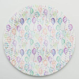TALÍŘE papírové Balónky pastelové 8ks