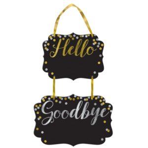ZÁVĚSNÝ nápis Hello Goodbye