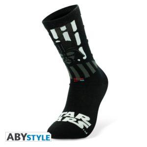 4D Cityscape Ponožky Star Wars - Darth Vader Black a White