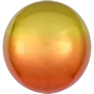 Amscan Ombre žluto-oranžový fóliový balonek - koule
