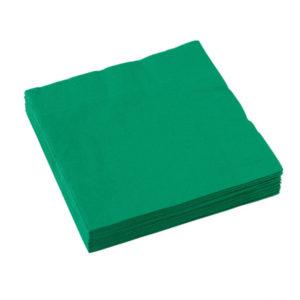 Amscan Ubrousky - Slávnostní zelená 20 ks