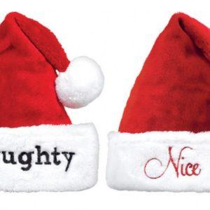 Amscan Vánoční čepice Naughty / Nice - 2 ks