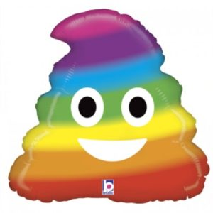 BP Fóliový balón - duhový Poop