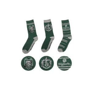 Cinereplicas Sada 3 párů ponožek Harry Potter - Zmijozel