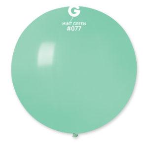 Gemar Kulatý pastelový balonek 80 cm - zelená máta
