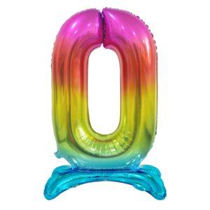 Godan Samostojící fóliový balón 0 dúhový 74 cm