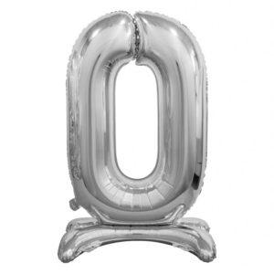 Godan Samostojící fóliový balón 0 stříbrný 74 cm