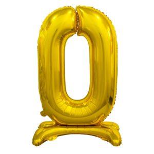 Godan Samostojící fóliový balón 0 zlatý 74 cm