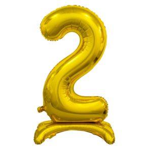 Godan Samostojící fóliový balón 2 zlatý 74 cm