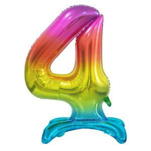 Godan Samostojící fóliový balón 4 dúhový 74 cm