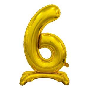 Godan Samostojící fóliový balón 6 zlatý 74 cm