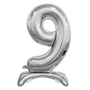 Godan Samostojící fóliový balón 9 stříbrný 74 cm