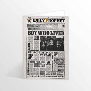 Minalima Skládaná karta Harry Potter - The daily prophet