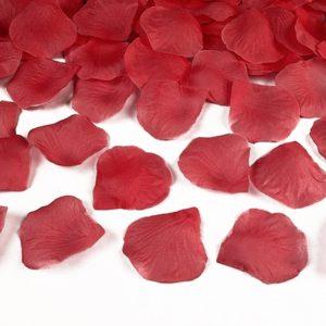 OKVĚTNÍ LÍSTKY RŮŽÍ  textilní červené