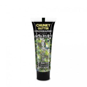 PGW Holographic gel na obličej a tělo - různé barvy Barva: Zelená
