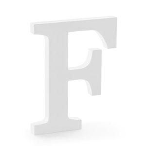 PÍSMENO dřevěné F bílé