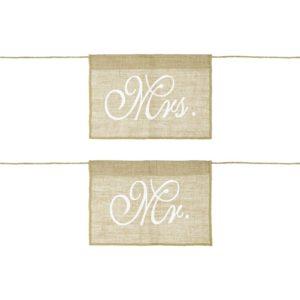 PartyDeco Dekorace na židli - Mr. a Mrs.