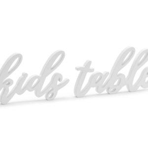 PartyDeco Dřevěná dekorace - Kids table