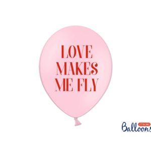 PartyDeco Ružový Balónik - Love makes me fly