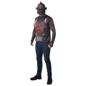 Rubies Pánský top a čepice Black Knight (Fortnite) Velikost - dospělý: S