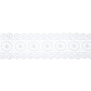 STUHA krajková bílá 5 cm