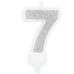 SVÍČKA č.7 stříbrná