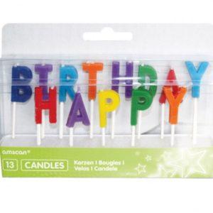SVÍČKY Happy Birthday 13ks