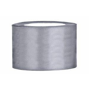 Stuha saténová šedá 5cm/25m