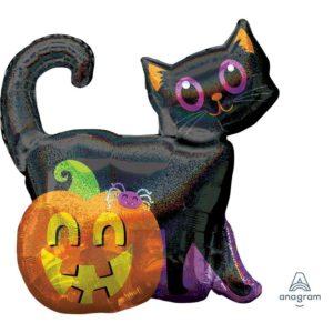 Amscan Černá kočka s dýní - Halloween