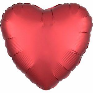 Amscan Fóliový balón Srdce - rudé 43 cm