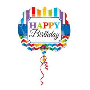Amscan Fóliový balónek Barevné narozeniny 63 x 55 cm