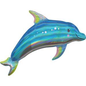 Amscan Fóliový balonek holografický delfín 73 x 68 cm