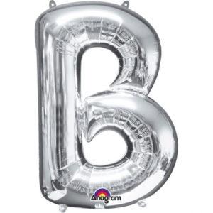 Amscan Fóliový balónek písmeno B 86 cm stříbrný