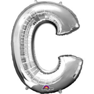 Amscan Fóliový balónek písmeno C 86 cm stříbrný