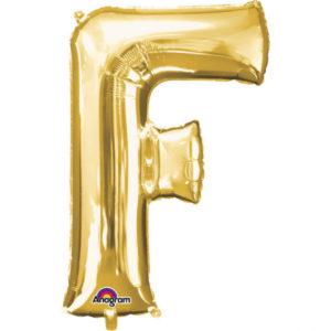 Amscan Fóliový balónek písmeno F 86 cm zlatý