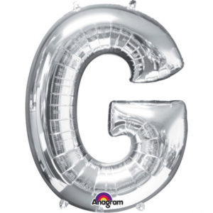 Amscan Fóliový balónek písmeno G 86 cm stříbrný