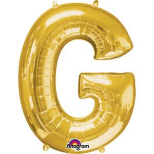 Amscan Fóliový balónek písmeno G 86 cm zlatý