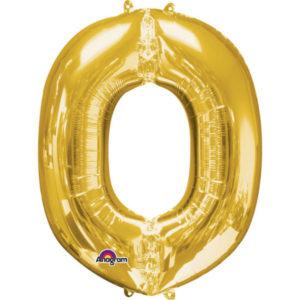 Amscan Fóliový balónek písmeno O 86 cm zlatý